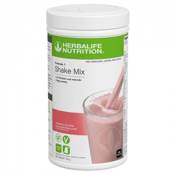 Free From Soya, Lactose and Gluten - F1 - Raspberry and White Chocolate Flavoured